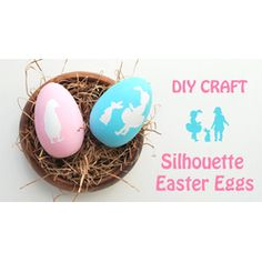 DIY Silhouette Stenciled Eggs  #Easter #Eggs: 28 Decorating and Fun Ideas