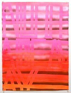 "jpabbott:  Not Fade Away, Acrylic and spray paint on paper, 30"" x 22"", 2012-2013"