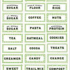 #printable kitchen labels