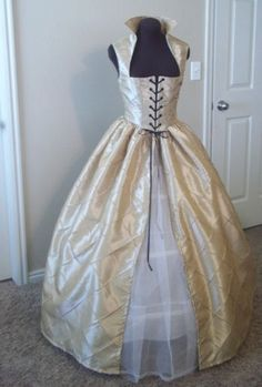 Champagne Almond Renaissance Over Dress or Gown  34 by desree10, $130.00