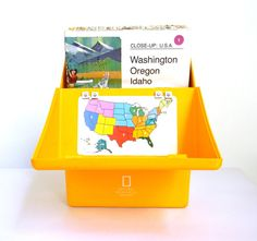 National Geographic Map Set  CloseUp USA by Mylittlethriftstore, $48.00