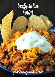 Beefy Salsa Rotini