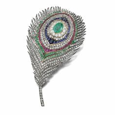 MAGNIFICENT AND RARE GEM-SET AND DIAMOND BROOCH, MELLERIO