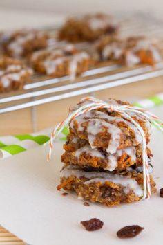 Quinoa Carrot Cake Breakfast Cookies by Healthful Pursuit