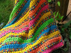 Baby blanket version of Caron's Mile A Minute Afghan...this would be cute in any size!
