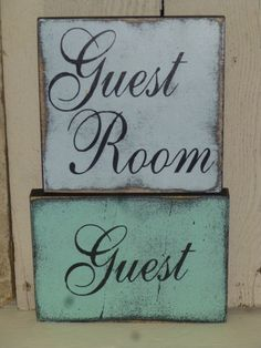 GUEST ROOM SIGN / guest sign / hand painted by SophiesCottage, $8.95
