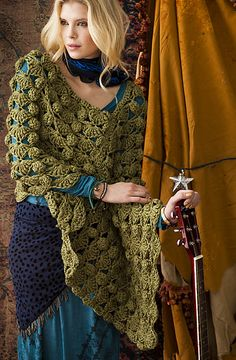 Vogue pattern available on Ravelry. Seems like a lighter weight yarn would be a good choice.