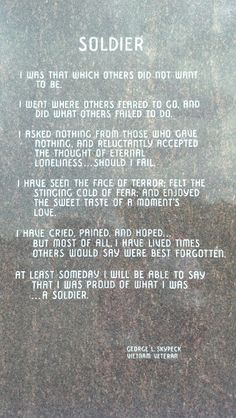 George L. Skypeck, A Vietnam Veteran...Veteran's Memorial at the Buffalo Harbor, Buffalo, NY.