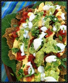 Raw Nachos #rawfood #rawfoodrecipes