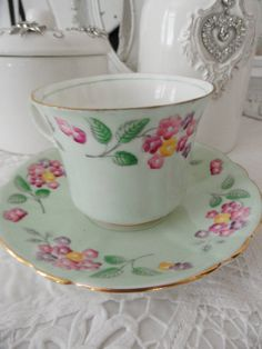 adorable vintage foley china tea cup saucer