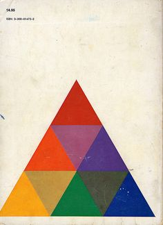 book cover art, graphic design, books, josef albers, triangles, colors, rainbows, design art, character design