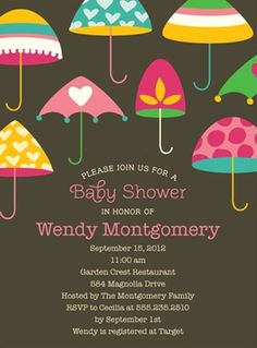 Baby Shower Ideas Inspired by Umbrella Party Invitation   Project Nursery