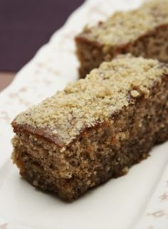 Recipe for Karidopita (Walnut Cake) from www.cookingwithmarialoi.com