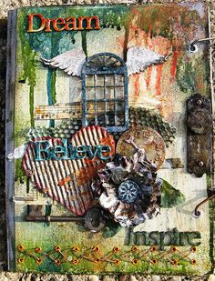 dream journal (altered composition notebook) by russellmist, via Flickr