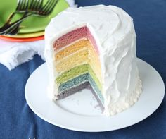 make rainbow cake with NATURAL dyes!