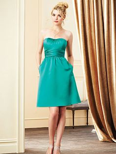 Alfred Angelo Bridesmaid Style 7267S in Jade