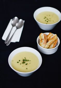 Potato and cauliflower soup - the perfect spring soup, it's creamy and delicious. Easy to put together and it'll be cooked in no time!