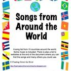 This is materials to have a Music Around the World theme. It includes the following items:  17 World posters in 8 1/2 x 11 size: Africa; Australia;...