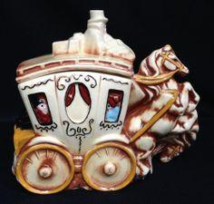 McCoy Stagecoach Cookie Jar ~ RARE ~ Vintage