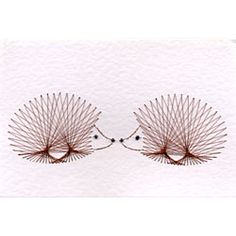 Hedgehogs Stitching Card