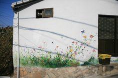 Garden mural ~ by Jinho.Jung, via Flickr