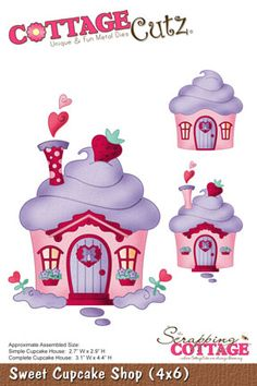 Sweet Cupcake Shop, The Scrapping Cottage - CottageCutz