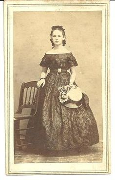 Early Civil War Era CDV of Woman with Straw Bonnet