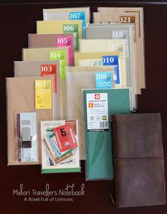 Love your Filofax? Check out all the features and organization tools in the Midori Travelers Notebook. It's a new favorite! Via A Bowl Full of Lemons