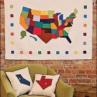 Modern America Quilt - via @Craftsy