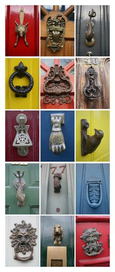 Really cool door knockers.