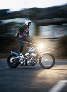 chopper surfing #motorcycle #motorbike