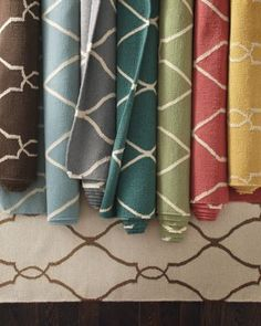 Handcrafted flat wool rugs at Garnet Hill.  Love their stuff!