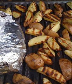 Grilled Potato Wedge Fries