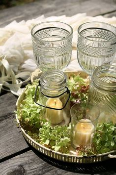 jars as candle holders