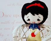 Snow White Doll Wool Gift Boxed by sewfaithful on Etsy