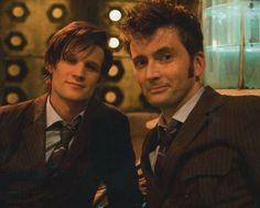 #DoctorWho // Matt Smith AND David Tennant // @Kelly Phipps Knudson :)