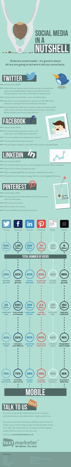 Social Media in a Nutshell an infographic