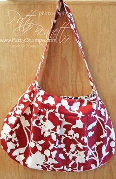 Love this purse made with Stampin' Up Timeless Portrait fabric