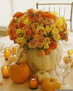 Beautiful Fall Table Decor Idea