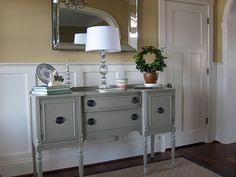 Painted Gray Antique Buffet