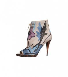 Burberry Hand-Painted Leather Ankle Boots ($1695)