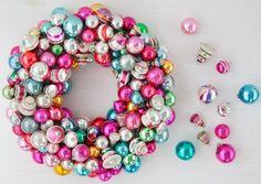Christmas Ornament Wreath DIY from Martha Stewart