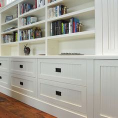 Traditional Living Room Built-in Bookshelves Design, Pictures, Remodel, Decor and Ideas -