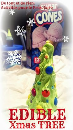 Edible Xmas tree!  Easy to make and kids love it! Munch, munch!