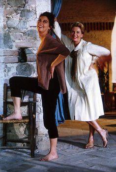 Ava Gardner and Deborah Kerr on the set of Night of the Iguana, 1964.