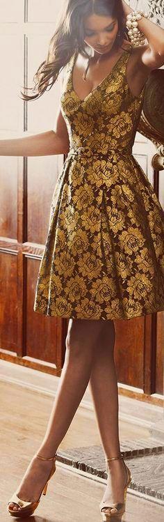 party dresses, cocktail parties, lace parti, elegant dresses, cocktail dresses, black gold, floral lace, floral dresses, parti dress