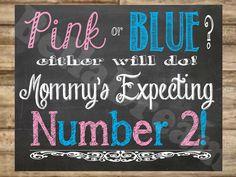 Fun Pregnancy Announcement Chalkboard Poster  by BellaDreamDesigns, $10.00