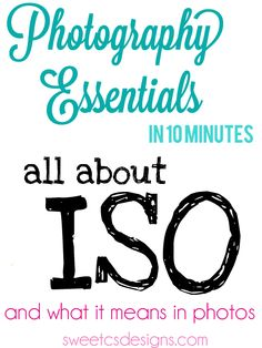 Photography Essentials in 10: ISO - Sweet C's Designs