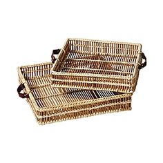 101 Beach House Must-Haves: Serena & Lily Natural Woven Trays | $98