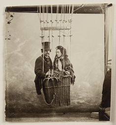 Gaspard Félix Nadar Tournachon dit: Nadar and his wife Ernestine, Paris, c. 1865, albumen paper, 9x8 inches, collection of Thomas Walther